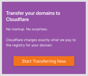 Cloudflare Domain Registrar